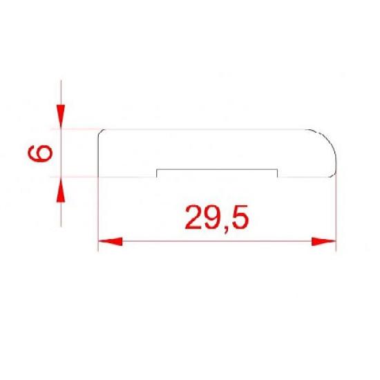 Плинтус - накладка Profi 0630 белая - Производитель Супер профиль - Белый