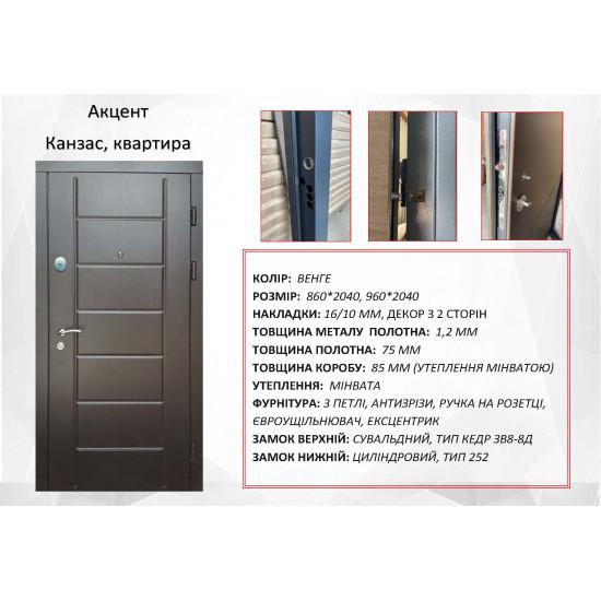 Акцент Канзас - Производитель RedFort - Входные двери