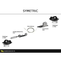 Механизм синхронного открытия 2х дверей Symetric для систем Herkules HS60