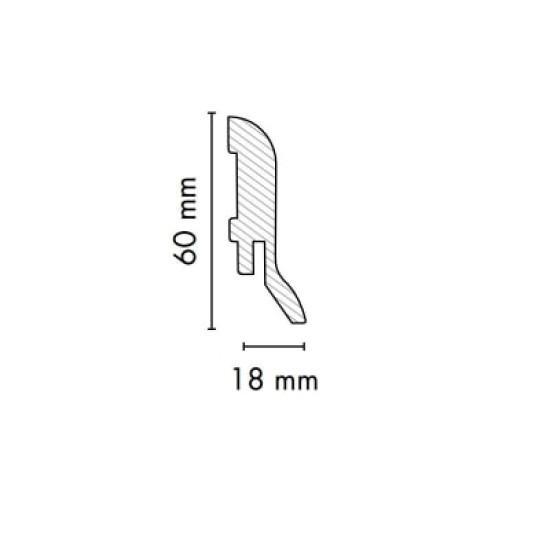 Плинтус 1860 Сильвер (матовый) - Производитель AGT - AGT