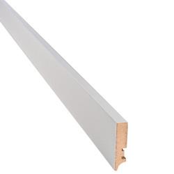 Плинтус прямоугольный белый мат